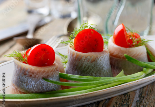 Fillet of Atlantic Herring in oil.