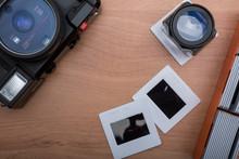 Appareil Photo Compact Argentique Et Diapositives