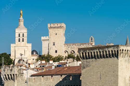 Photo Blick auf Kathedrale und Papstpalast in Avignon