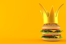 Cheeseburger With Golden Crown