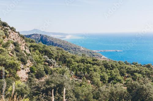 In de dag Canarische Eilanden Beautiful view of the Mediterranean seashore. The Lycian Way trekking near Patara, Turkey.