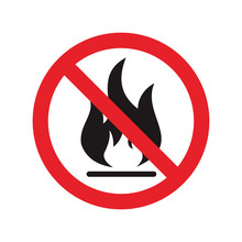 No Open Flame Sign. No Fire, N...