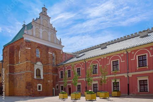Deurstickers Historisch geb. Courtyard of Castle