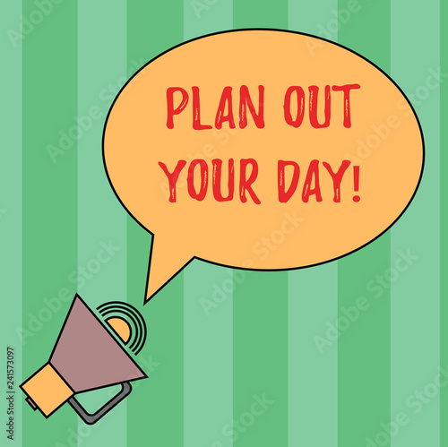 Photo  Writing note showing Plan Out Your Day