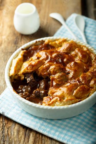 Fototapeta Homemade meat pie obraz