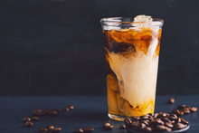 Iced Coffee With Cream In Tall...