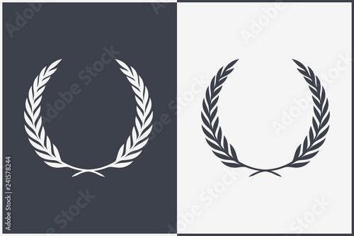 Fototapeta Heraldic Wreath Icon. Honor or Quality or Reward Symbol. Vector Silhouette obraz