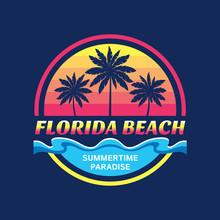 Florida Beach - Vector Illustr...