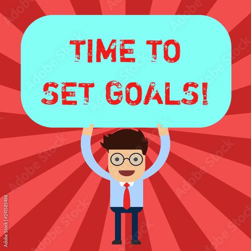 Fotografia  Handwriting text Time To Set Goals