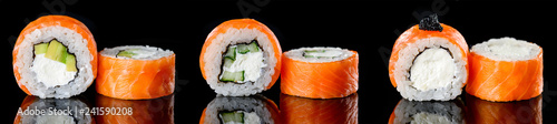 Set traditional sushi rolls