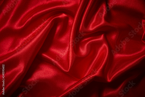 Türaufkleber Stoff Luxury red satin smooth fabric background for celebration, ceremony, event invitation card or advertising poster