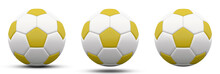 Yellow And White Soccer Ball I...