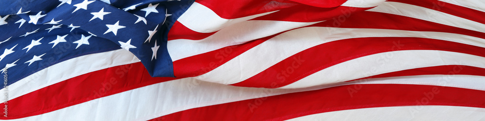 Fototapety, obrazy: USA flag banner