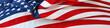 Leinwandbild Motiv USA flag banner