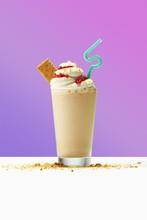 Milkshake On Table Against Pur...