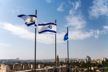 Israel And Jerusalem Flags On ...
