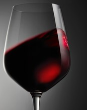 Close Up Of Red Wine Glass Aga...