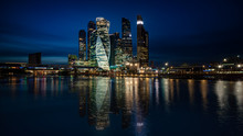 Skyline Of Moscow, Russia At Night