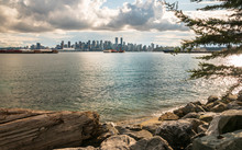 View Of Vancouver Downtown From North Vancouver, Vancouver, British Columbia, Canada