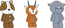 Cute Animals Plush Toy Cartoon...
