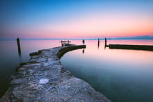 Punta San Vigilio At Dawn, A Beautiful Resort On Lake Garda, , Verona Province, Veneto, Italian Lakes