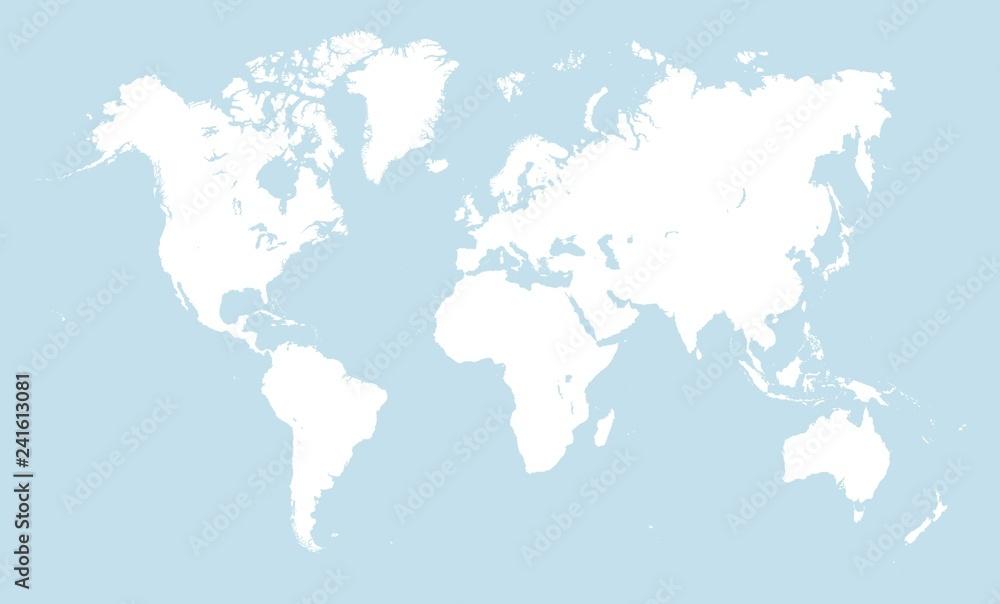 Fototapety, obrazy: White world map