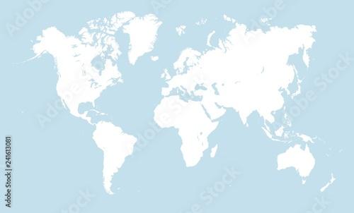 Fotografía  White world map
