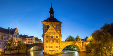 Altes Rathaus (Old Town Hall) At Dusk, Bamberg, Bavaria, Germany