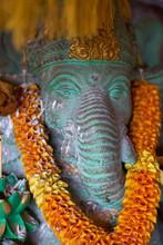 Decorated Ganesh Statue In Ubud, Bali, Indonesia