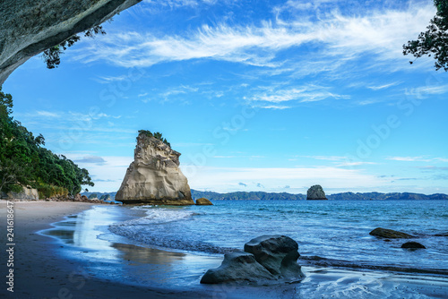 Foto op Canvas Cathedral Cove view from the cave at cathedral cove,coromandel,new zealand 43