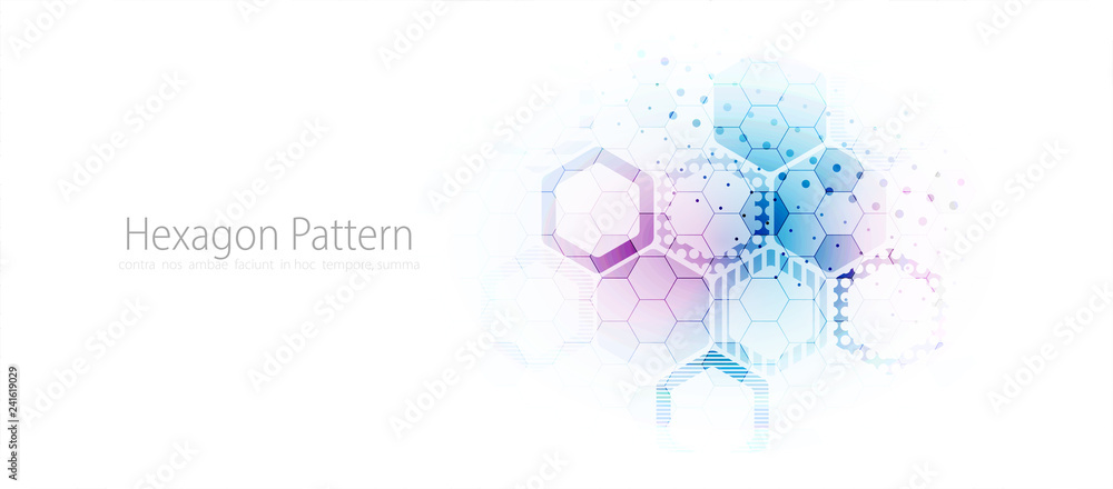Fototapety, obrazy: Abstract hexagon background for design works.