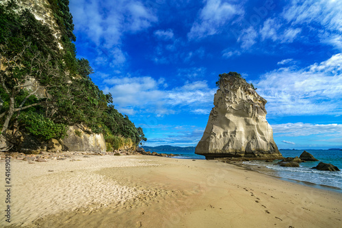 Foto op Canvas Cathedral Cove mighty sandstone rock monolith at cathedral cove beach,coromandel, new zealand 10