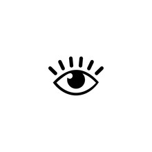 Eye With Eyelash Icon