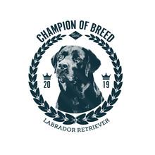 Winner Dog Show Badges Template. Vector Illustration.