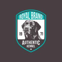 Vintage Dog Logo Badges Template. Vector Illustration.