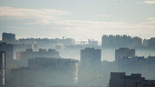 Fototapety, obrazy: Multi-storey building. Morning panorama of the big city. High-rise buildings