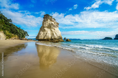 Foto op Canvas Cathedral Cove sandstone rock monolith,cathedral cove,coromandel,new zealand 33