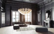 Modern Luxury Black Interior.