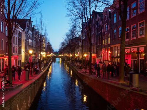 Deurstickers Amsterdam Barrio rojo, Amsterdam