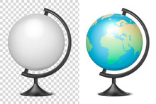 Vector Realistic 3d Globe Of P...