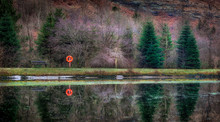 One Of A Set Of Three Ponds In The Glyncorrwg Area Of South Wales UK