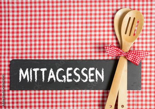 Leinwand Poster Mittagessen, Mittagstisch, Mittag und Essen, Kantine und Küche
