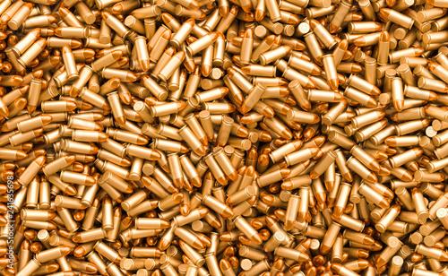 Obraz na plátne Bullets background, 3D rendering