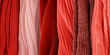 Coral knitted fabric textures. Knitted fabric samples.