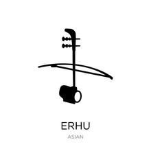 Erhu Icon Vector On White Back...