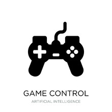 Game Control Icon Vector On Wh...