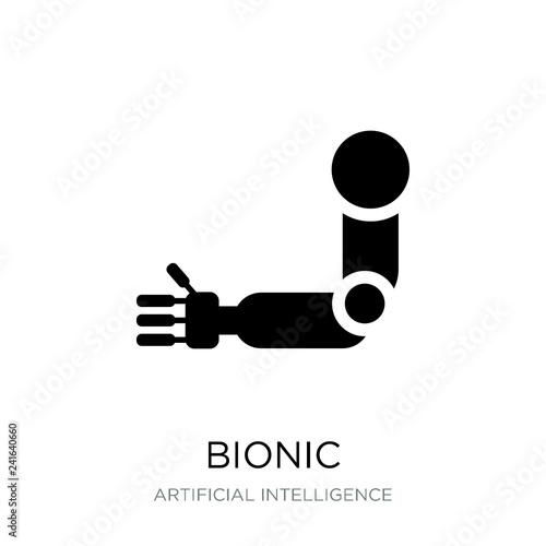 Fotografie, Obraz  bionic icon vector on white background, bionic trendy filled ico