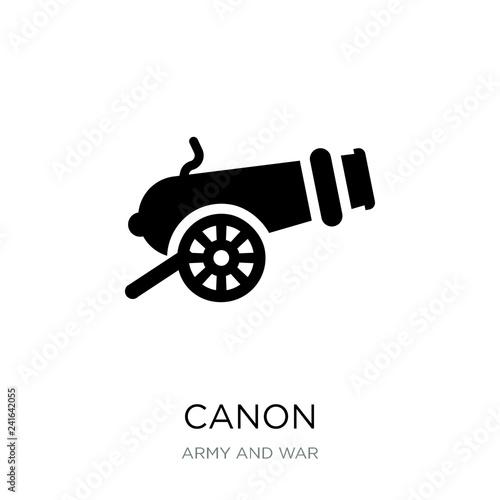Carta da parati canon icon vector on white background, canon trendy filled icons