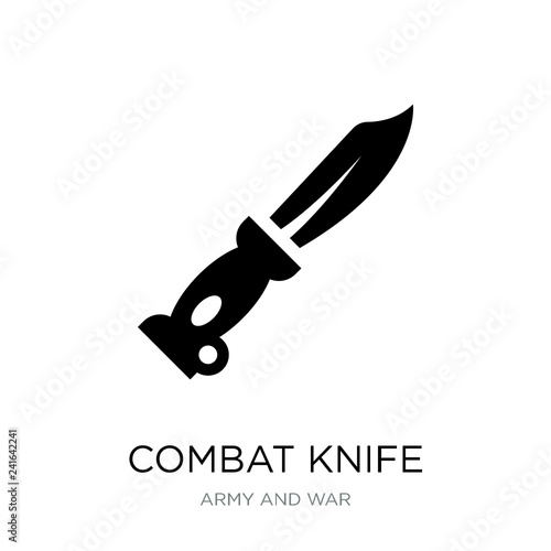 Photo  combat knife icon vector on white background, combat knife trend