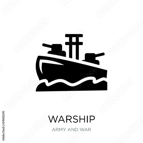 warship icon vector on white background, warship trendy filled i Wallpaper Mural